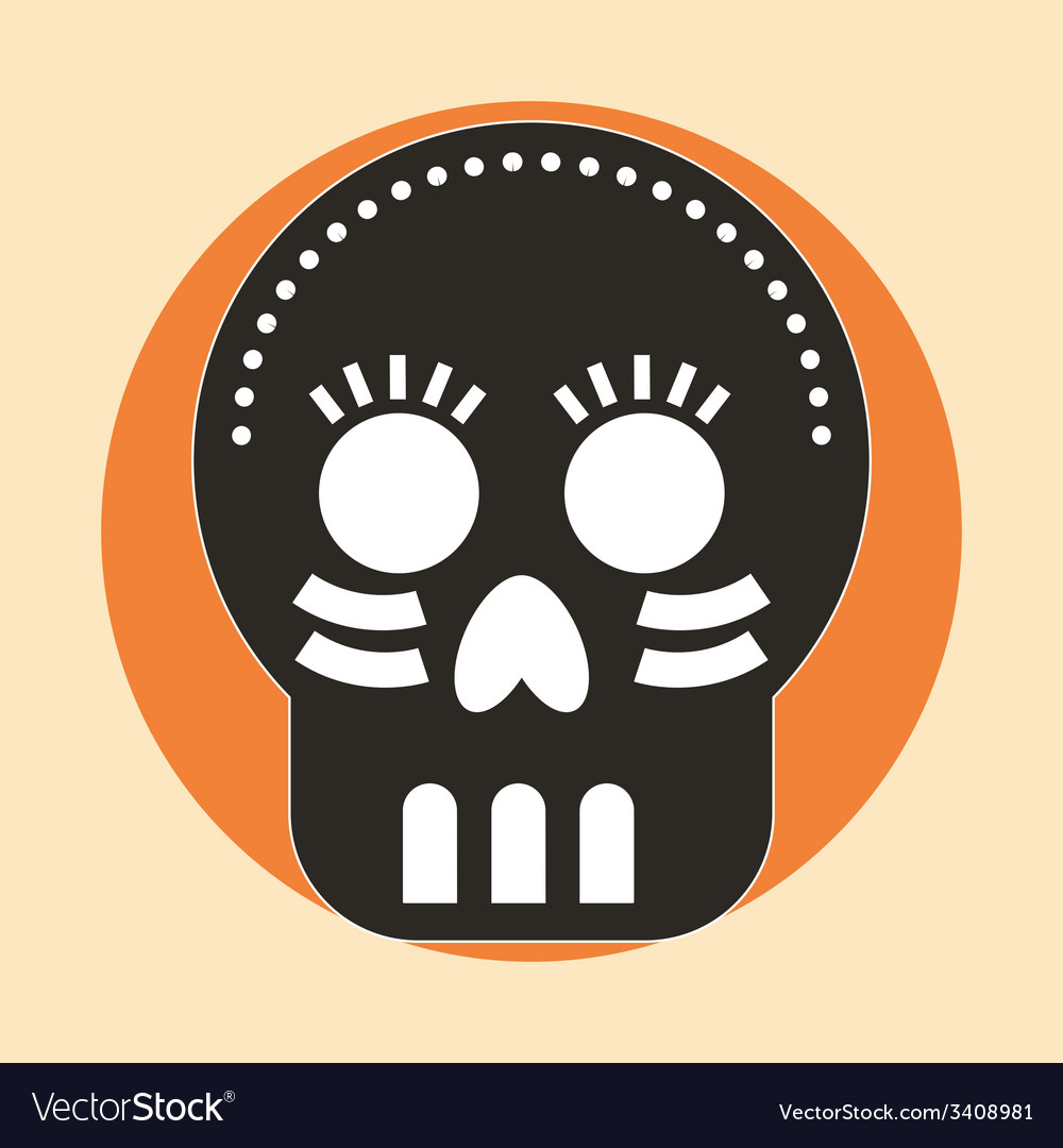 Skull design vector