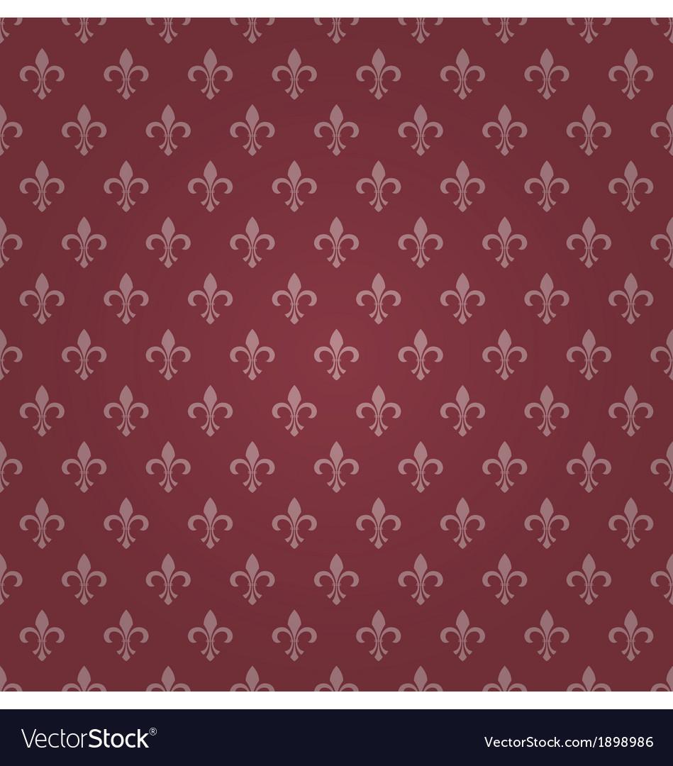 Seamless royal lily wallpaper vector