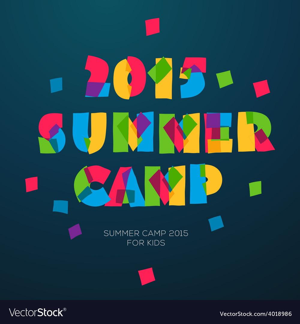 Travel themed summer camp poster vector