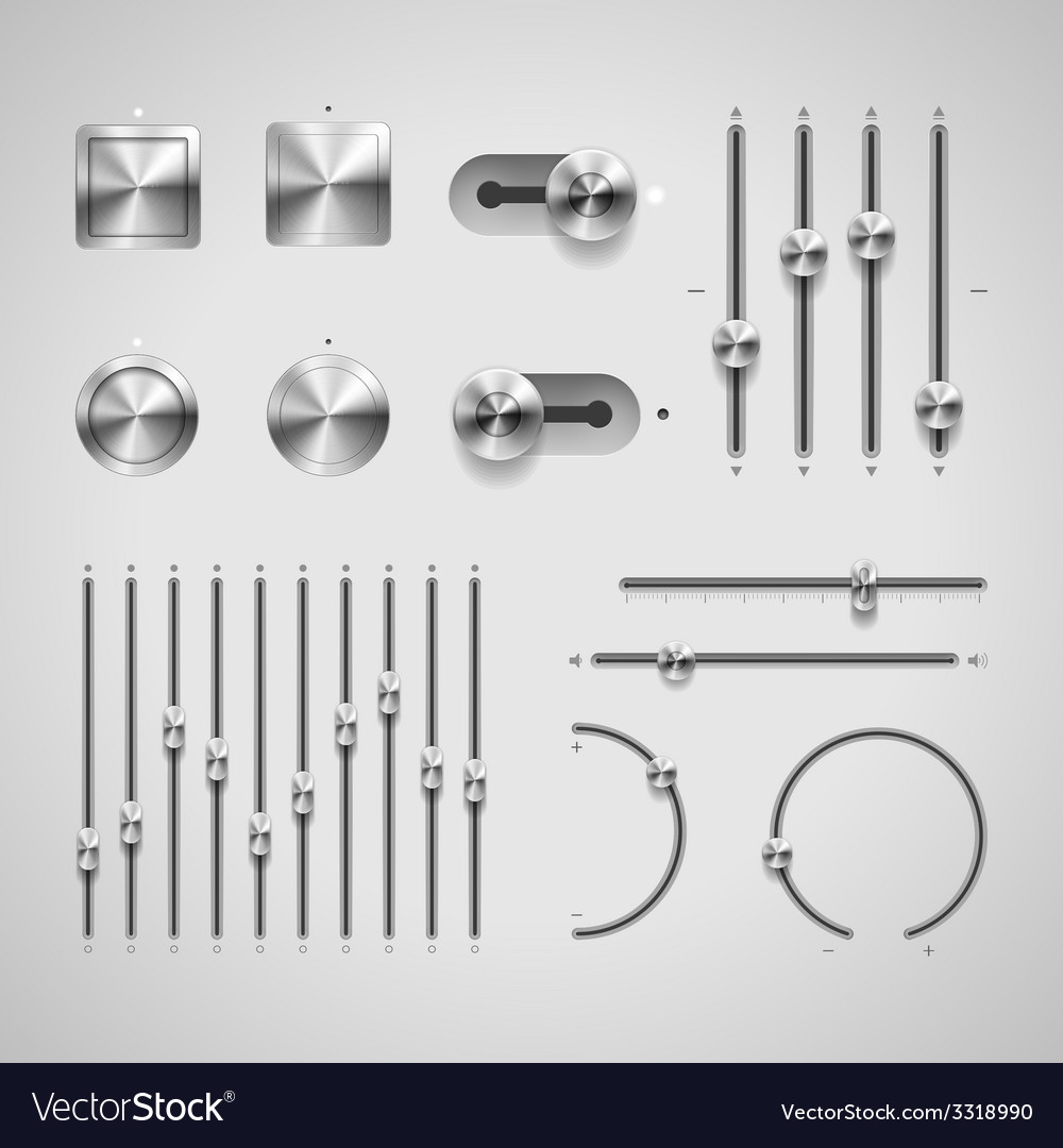 Buttons and knobs vector