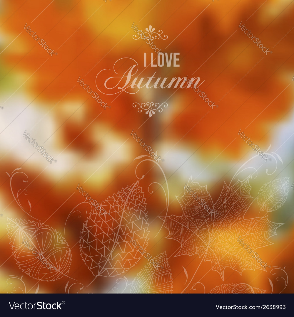 Autumn abstract blurred background vector