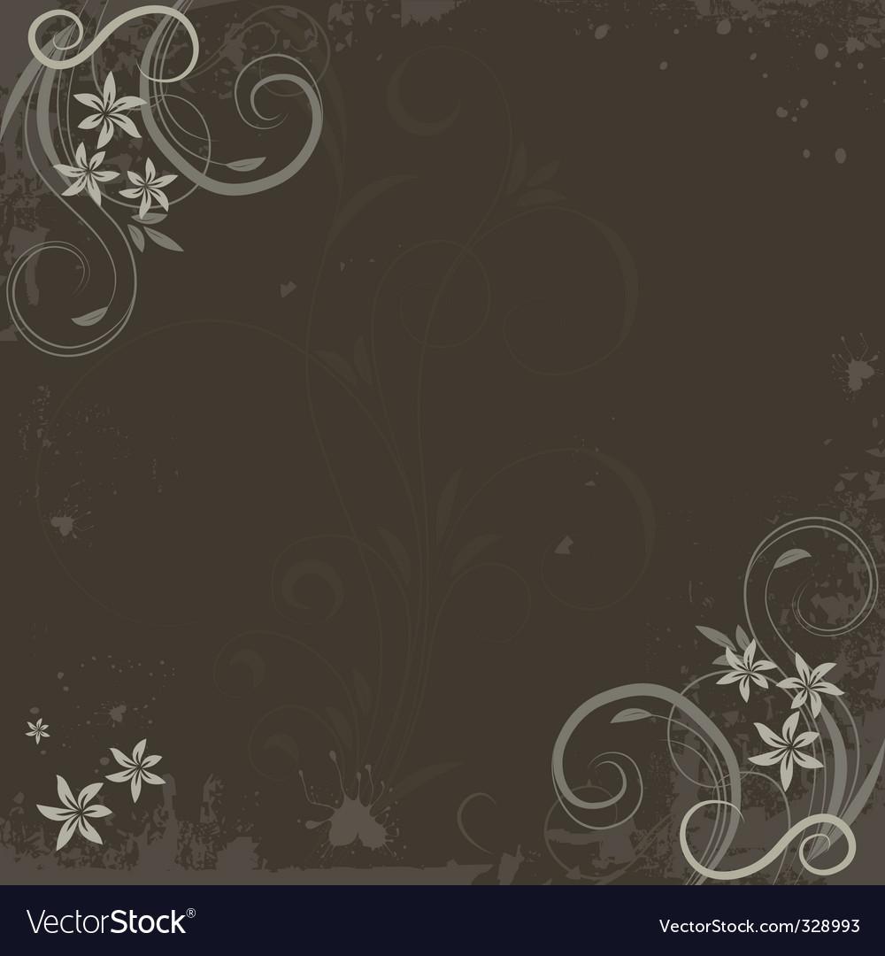 Grunge paint flower background vector