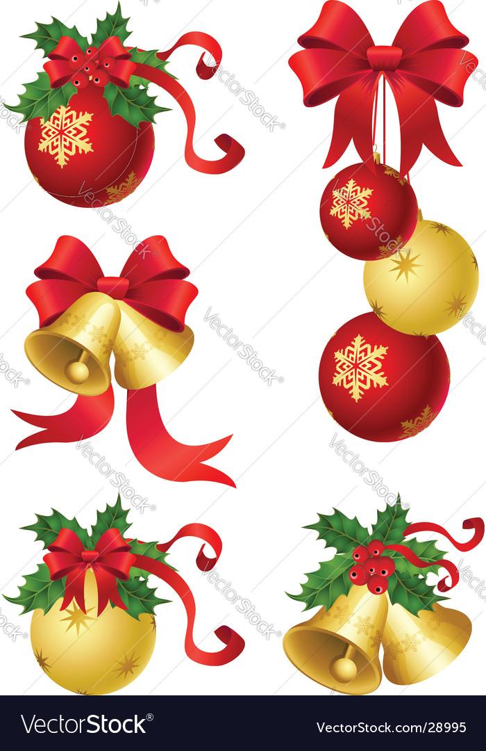 Christmas decor vector