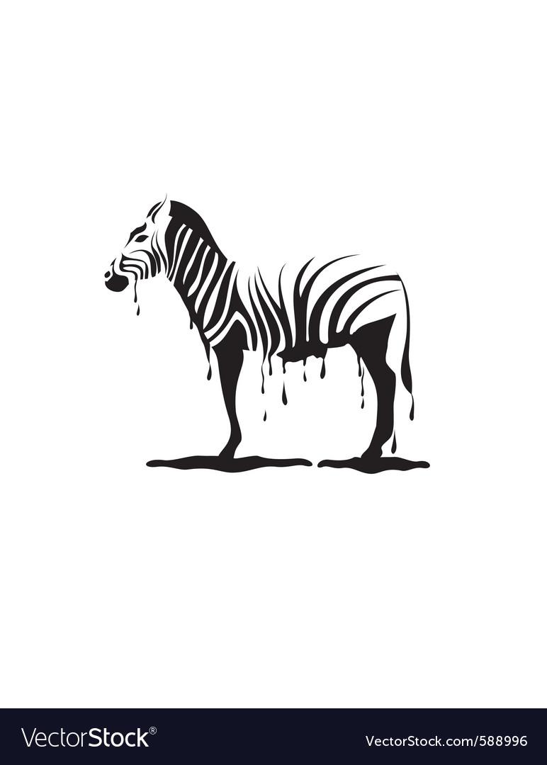 Graffiti zebra vector