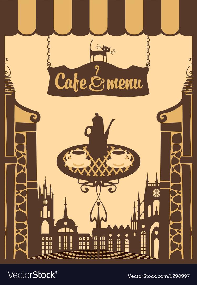 Menu for city cafe vector