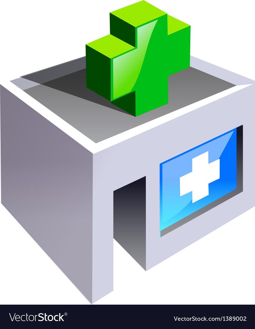 Icon hospital vector