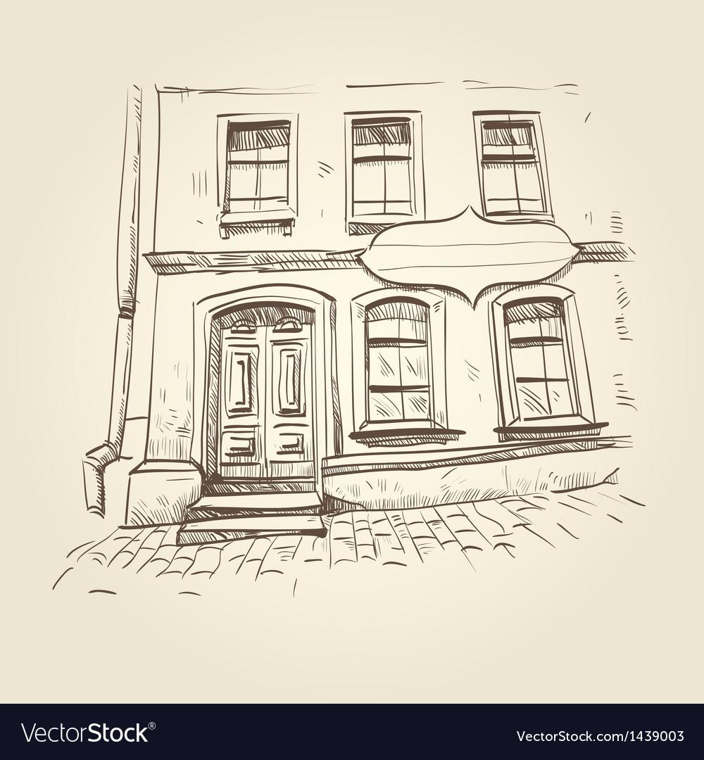 Building hand drawn vector