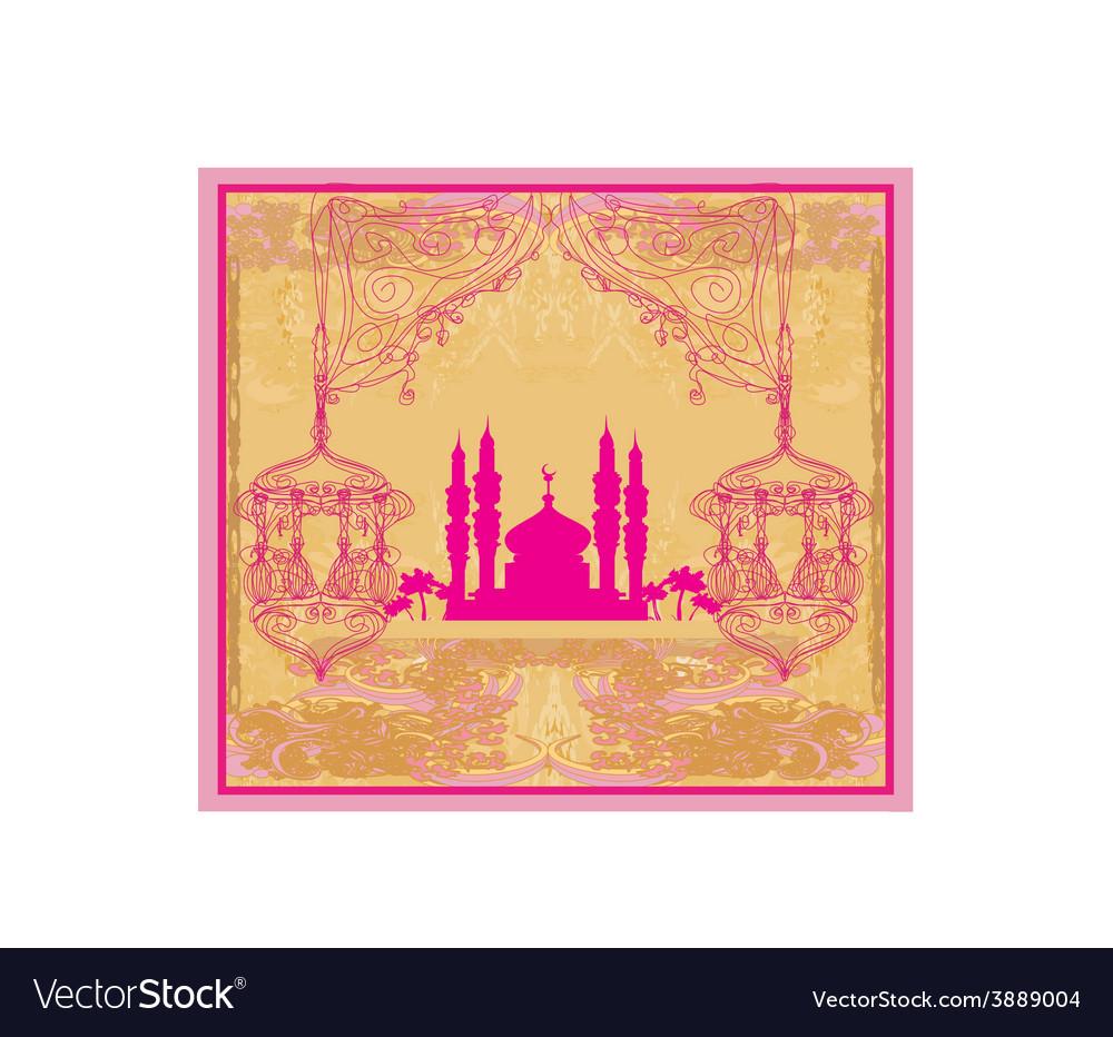Abstract religious background - ramadan kareem vector