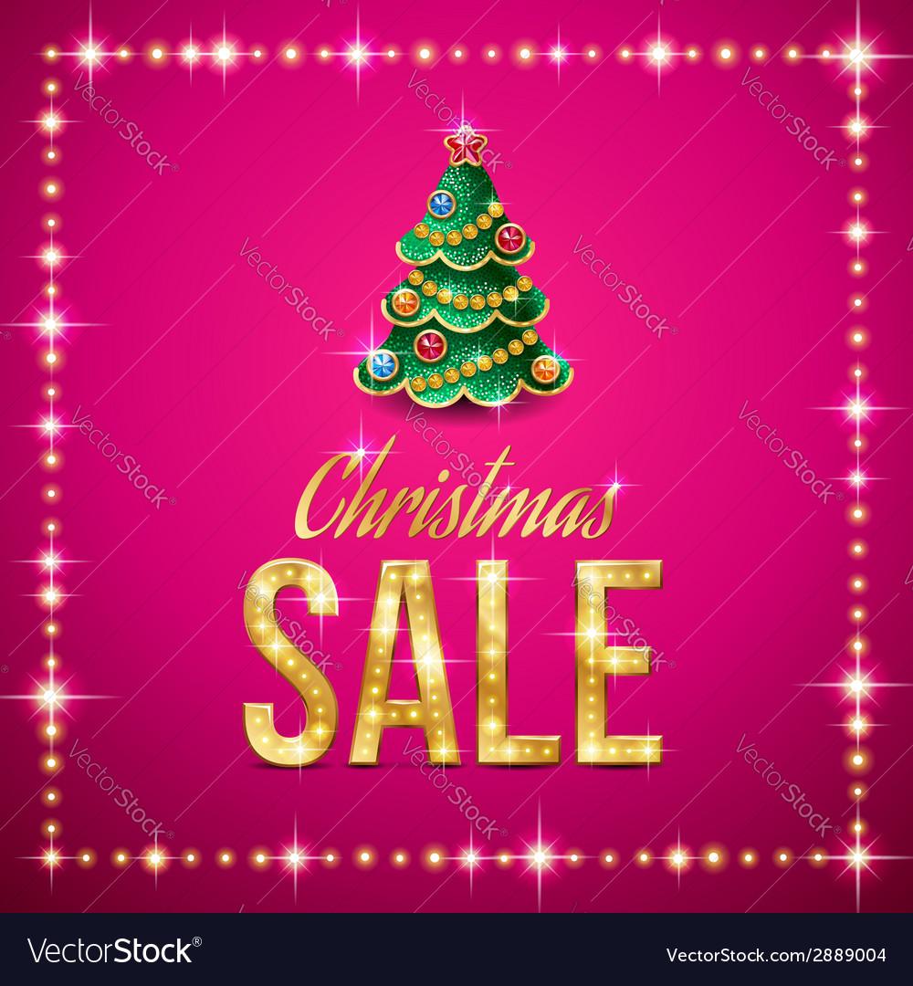 Christmas sale pink vector