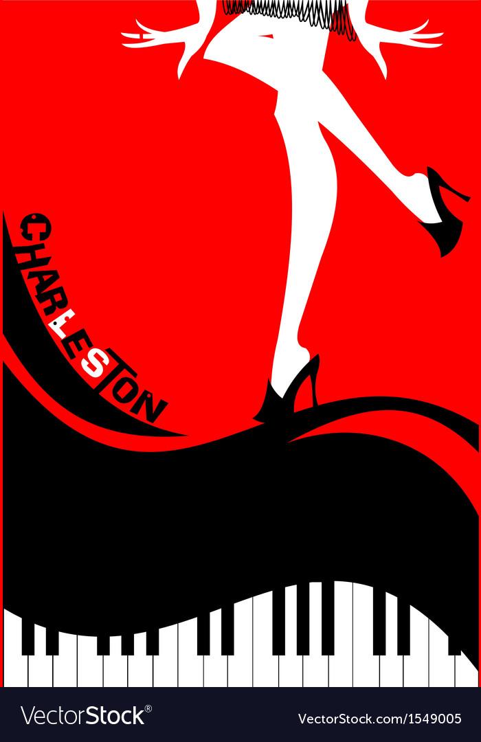Dance poster vector