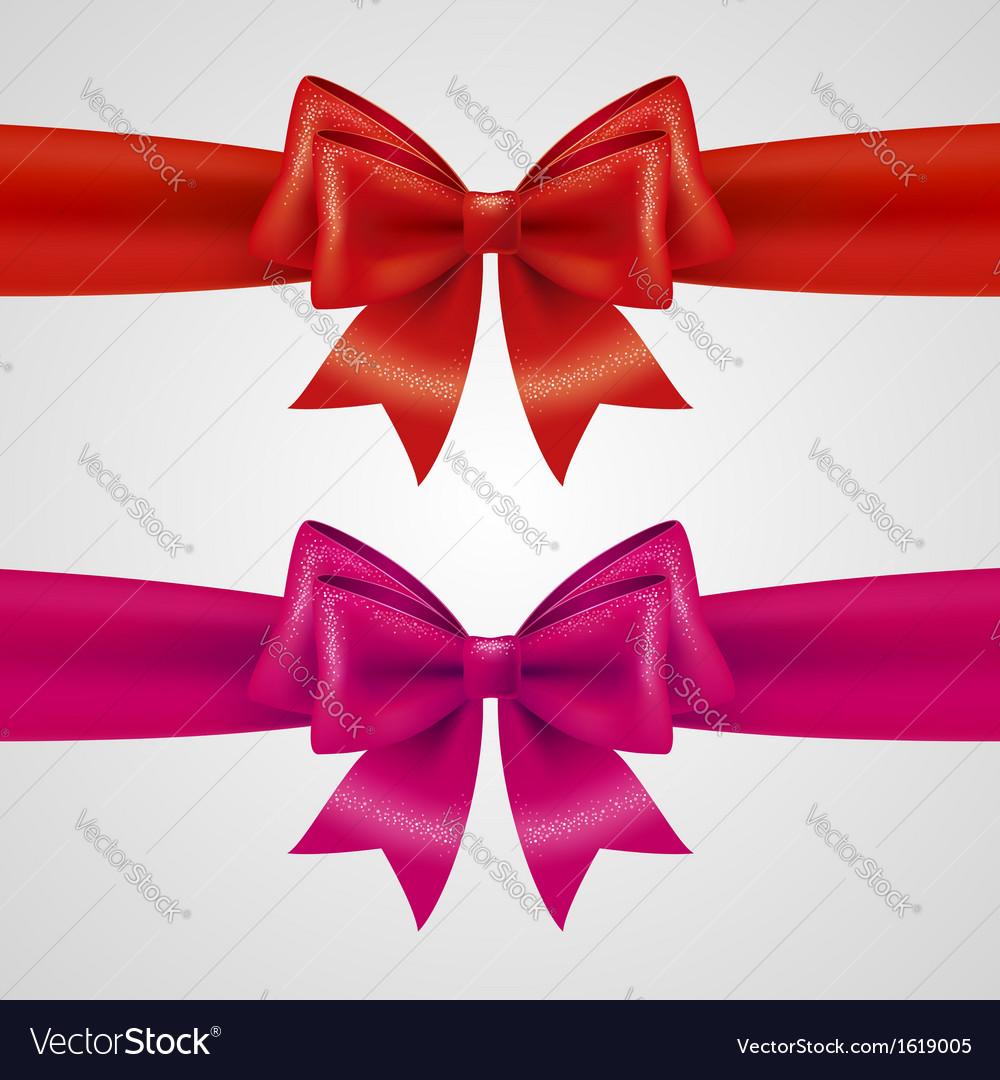 Holiday bows vector