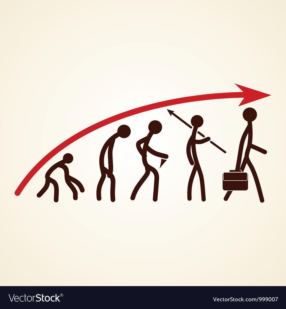 Evolution success concept vector