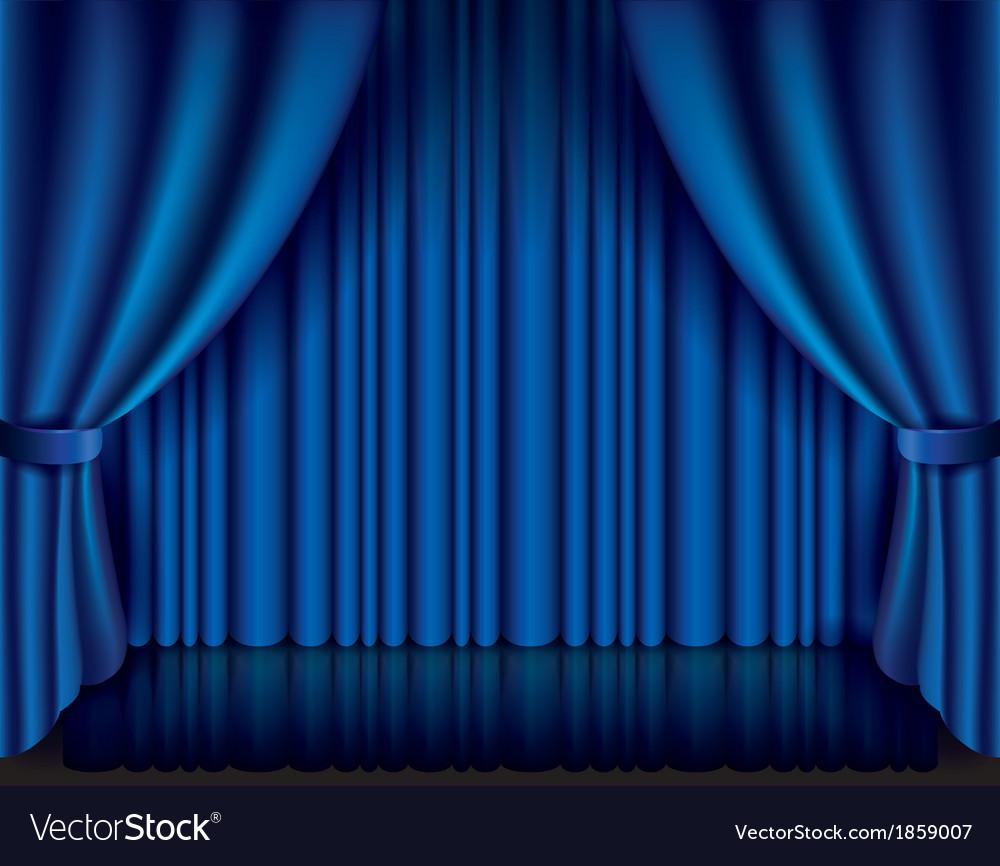 Object curtain blue vector