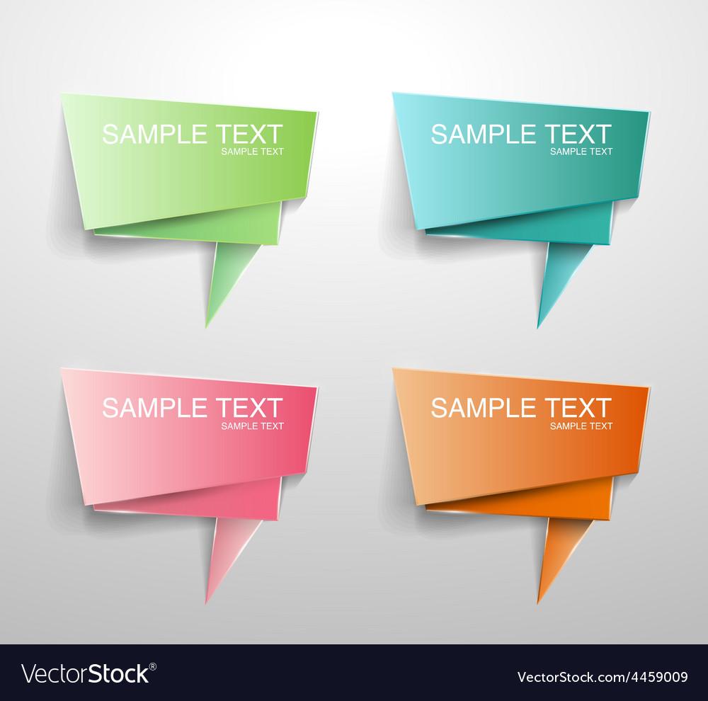 Text bubble vector