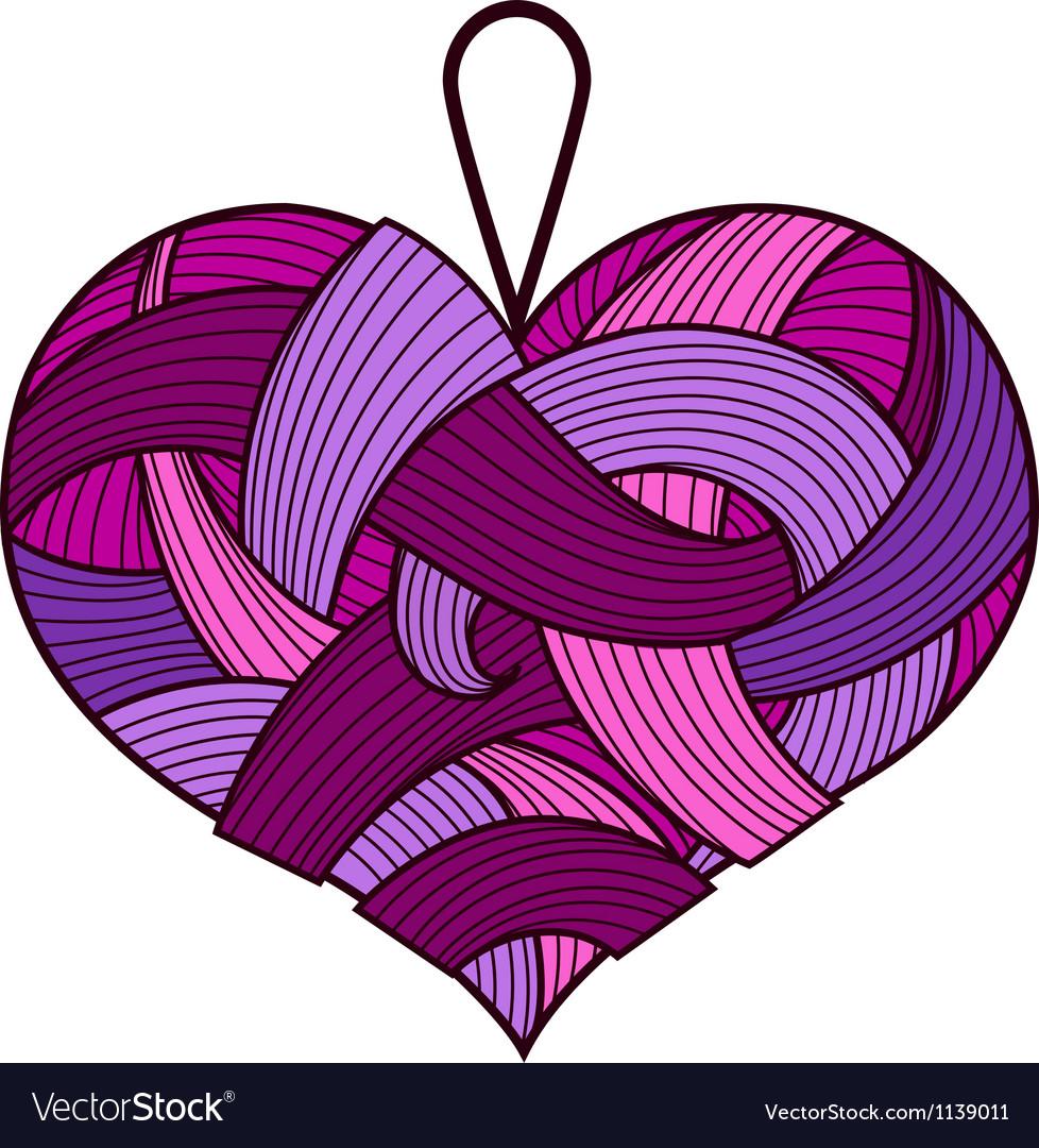 Purple heart vector