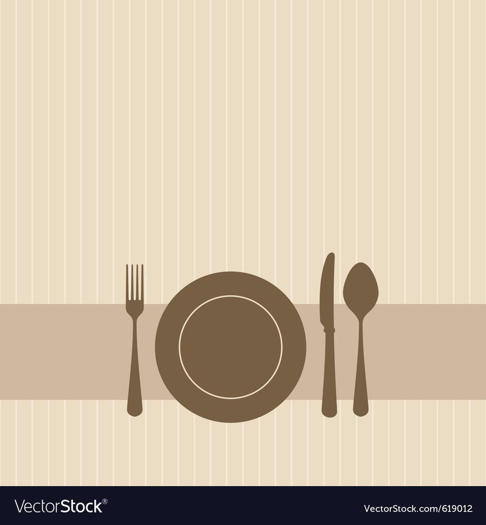 Dinner setting vector