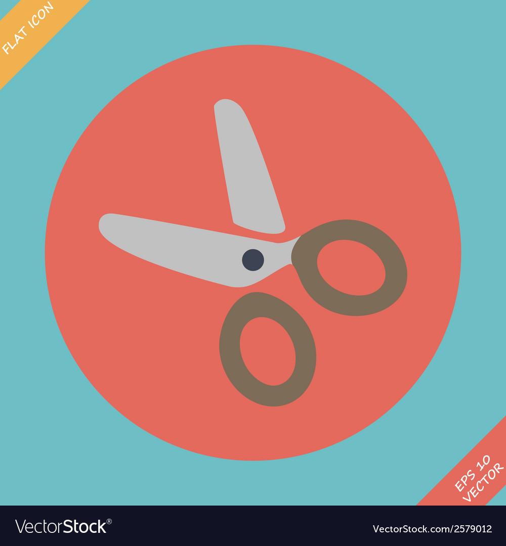 Scissors icon -  flat vector