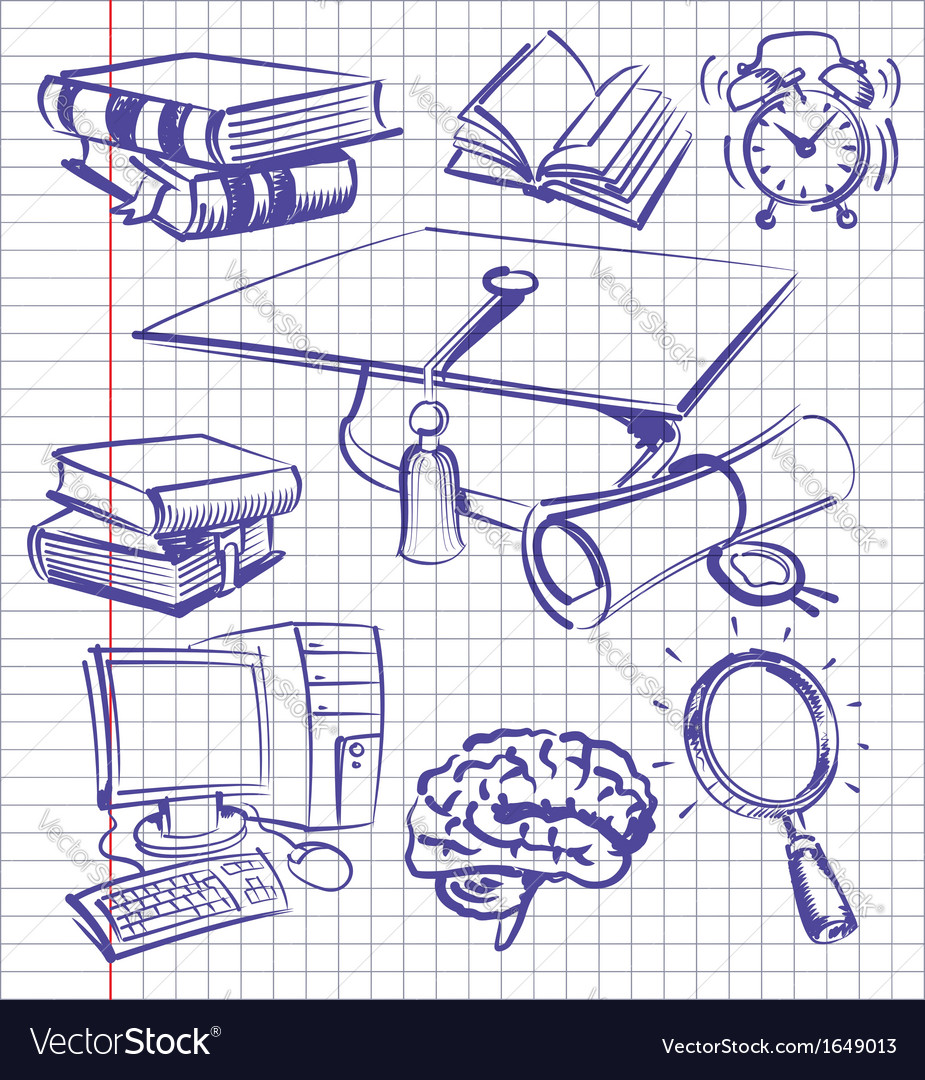 Education set vector