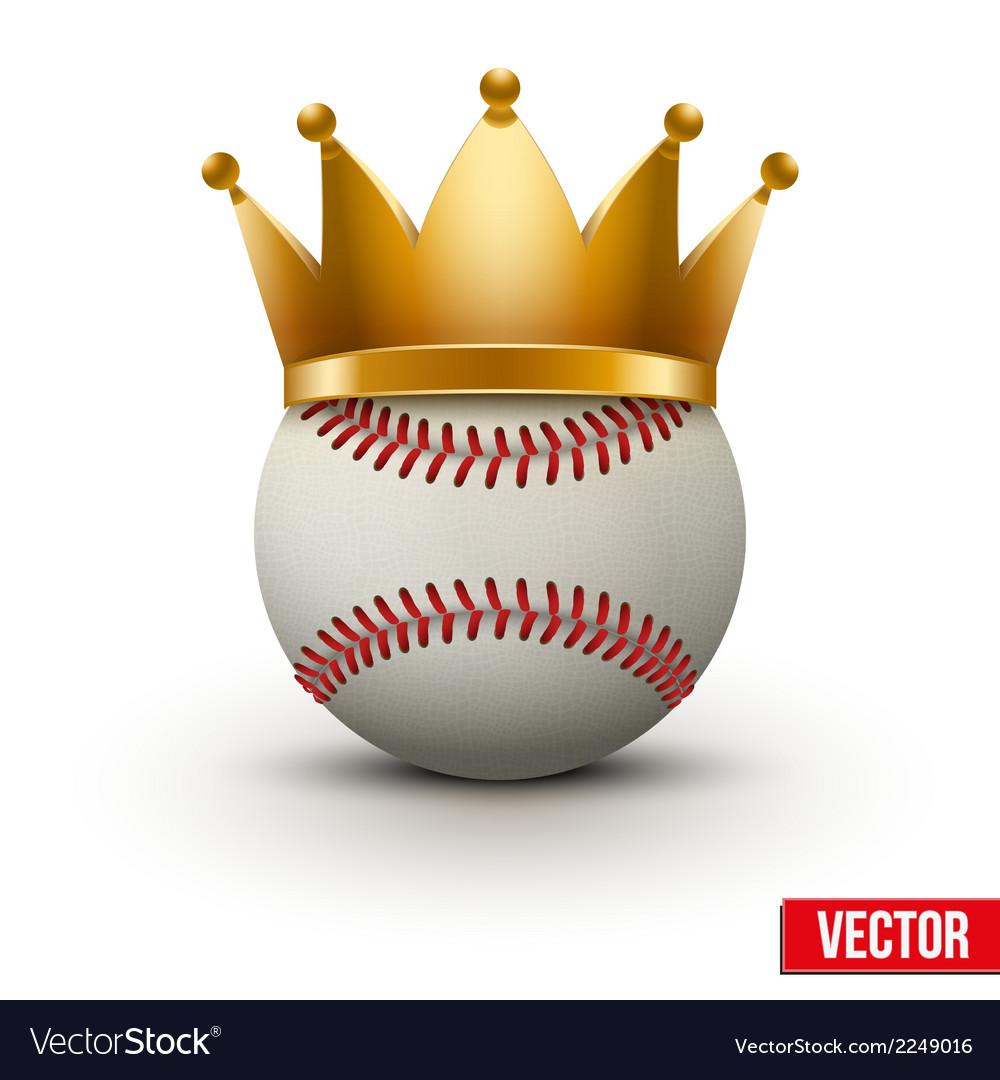 Baseball ball with royal crown vector