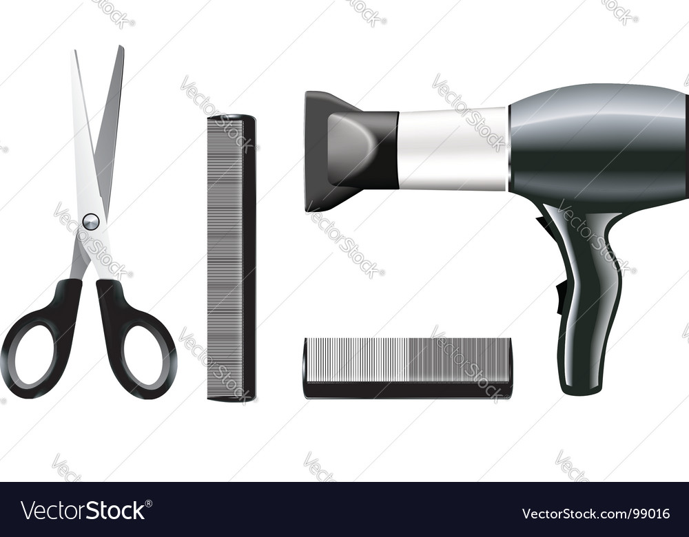 Hairdressing tools vector