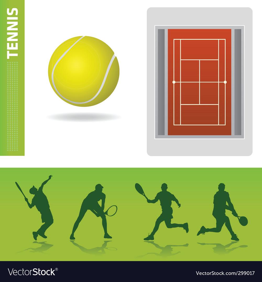 Tennis design elements vector