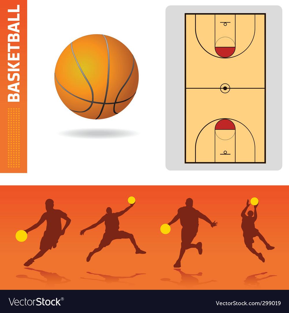 Basketball design elements vector