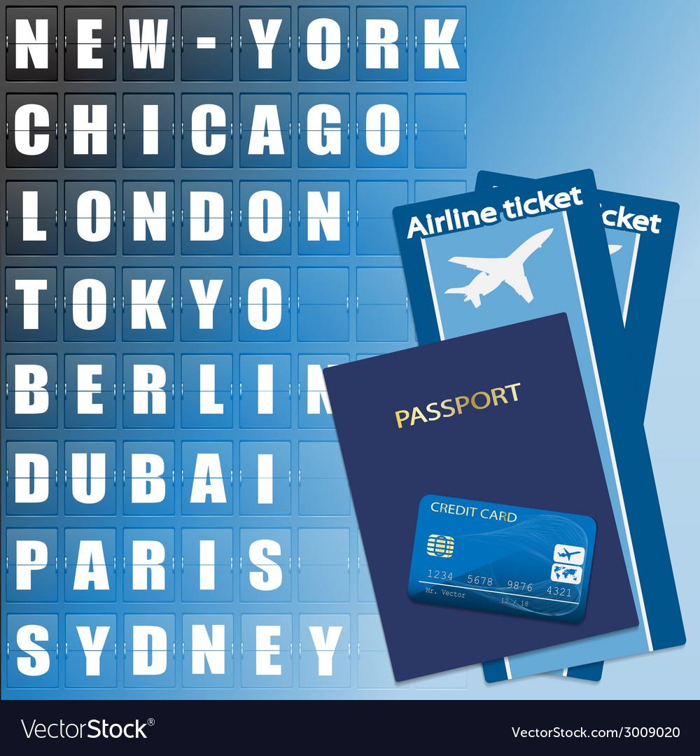 Air ticket set vector