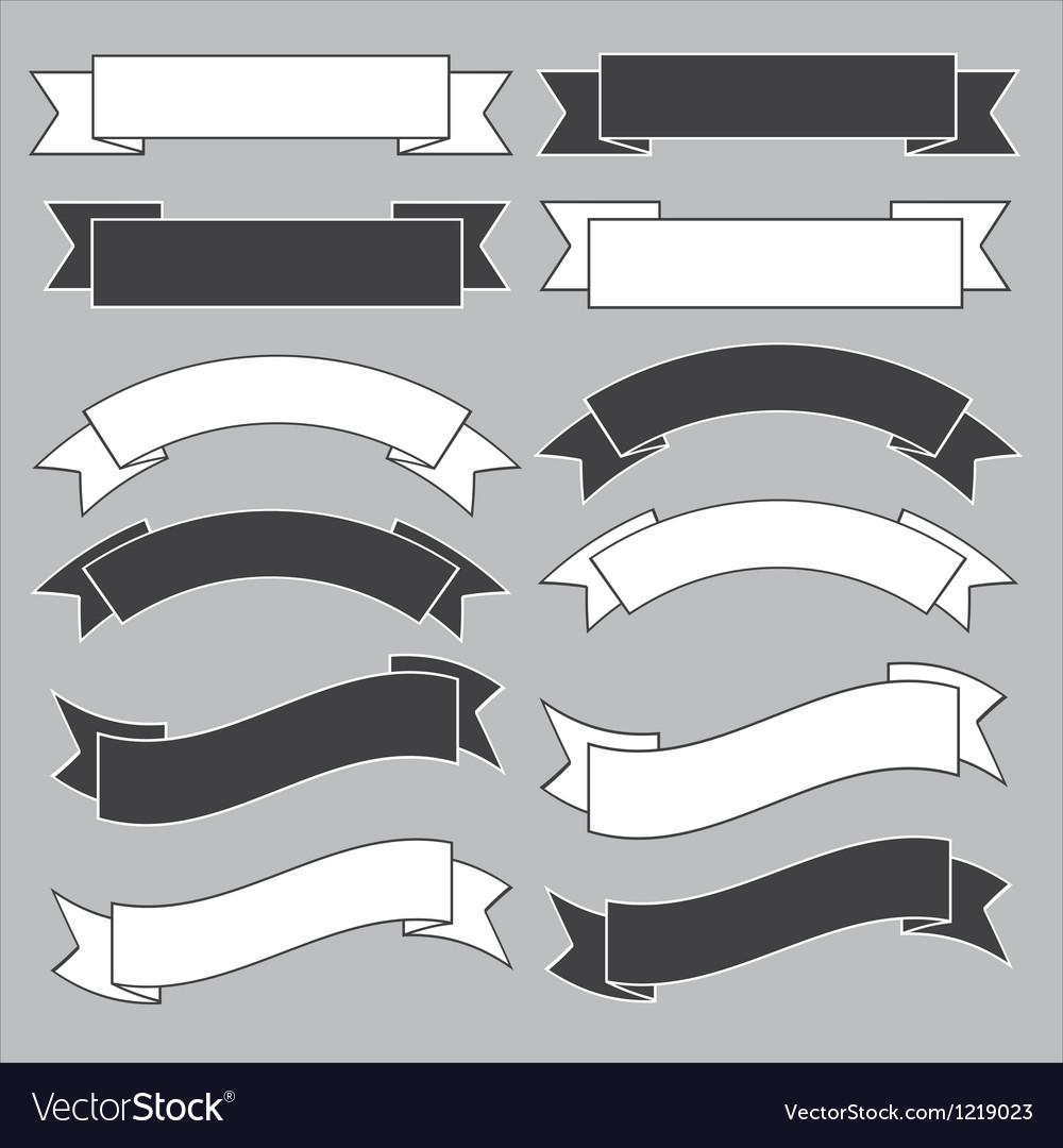 Old ribbon banner vector