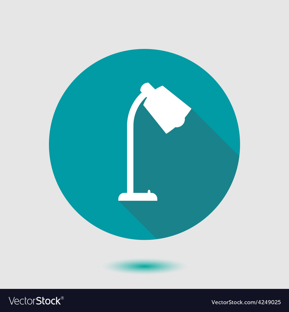 Stylish flat icon lamp vector