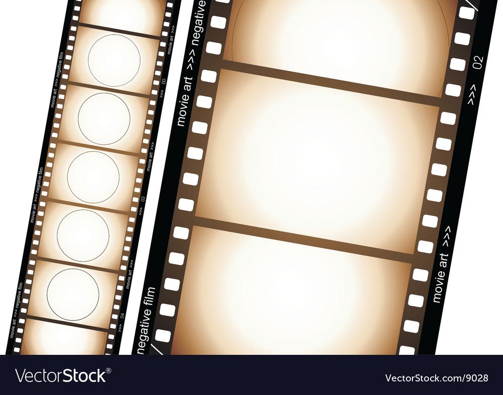 Old film strip vector
