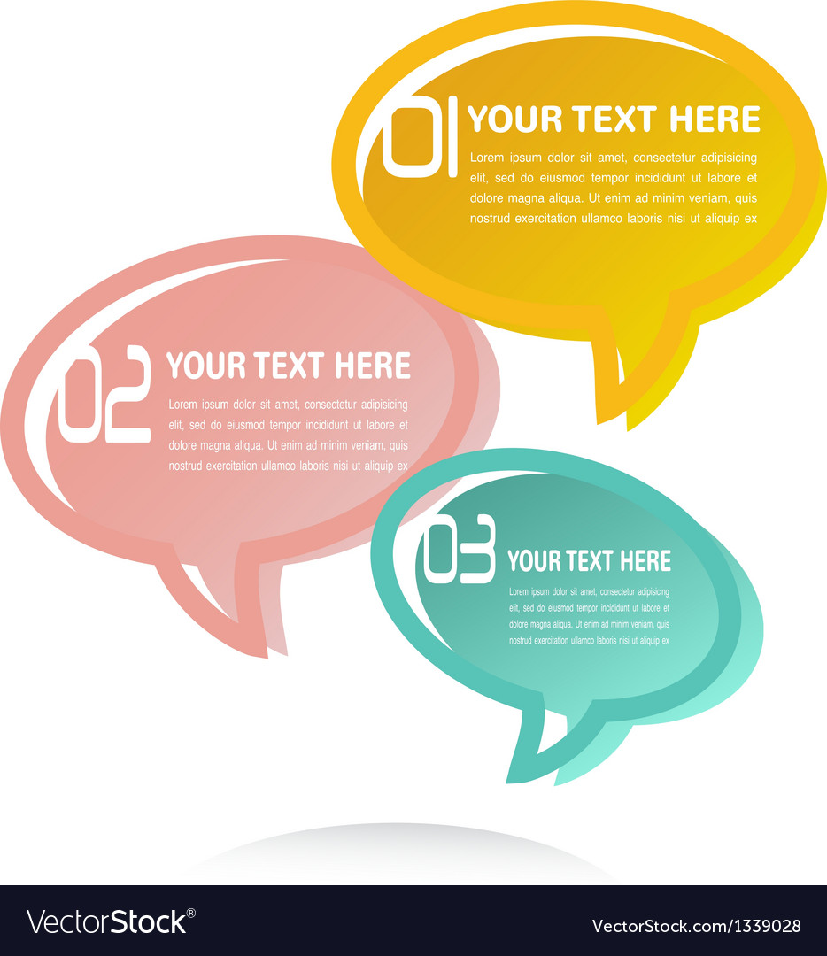 Translucent thought bubbles infographic business vector