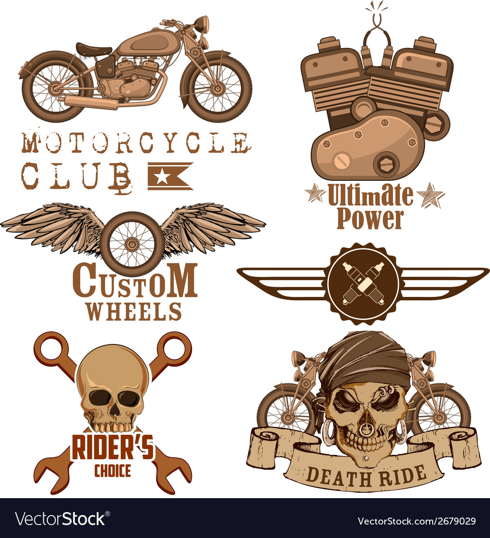 Motorcycle design element vector