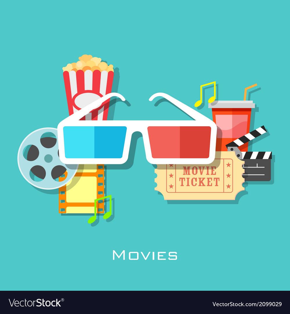 Movie backround vector