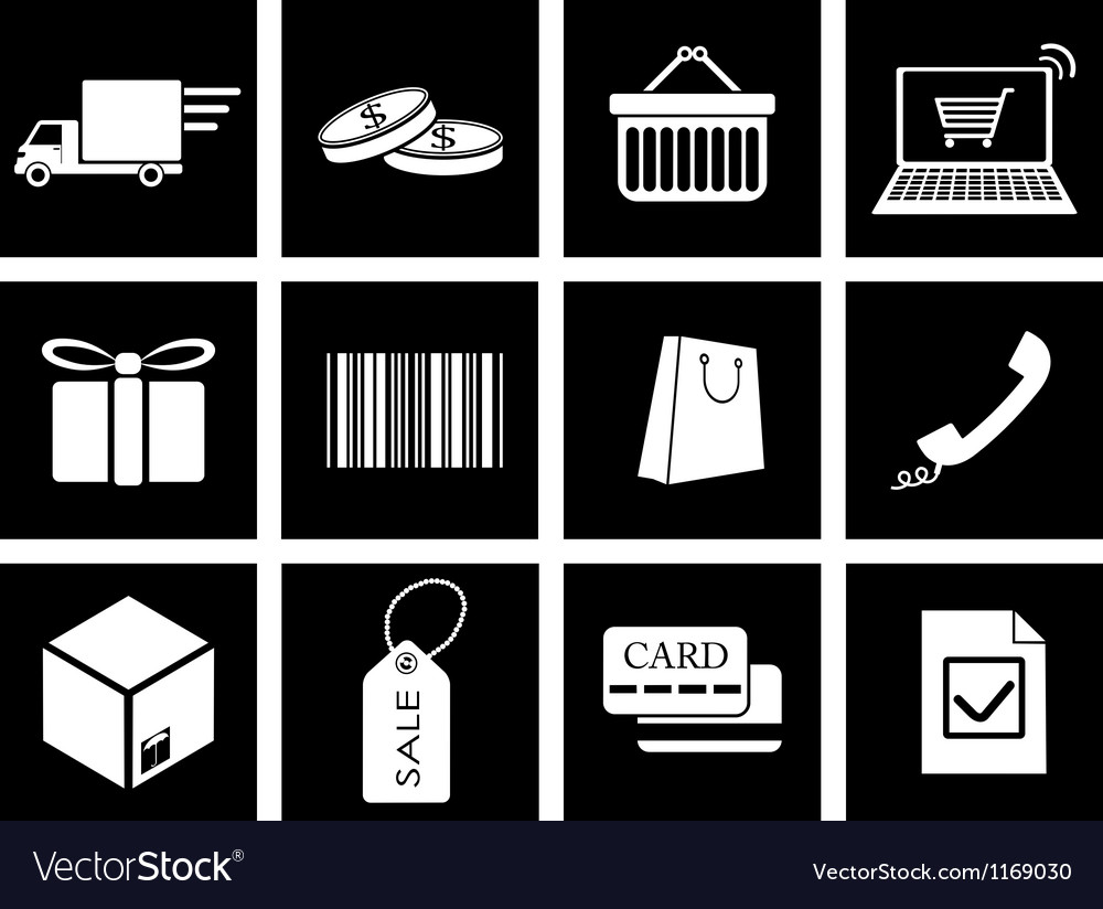 Trade icons vector