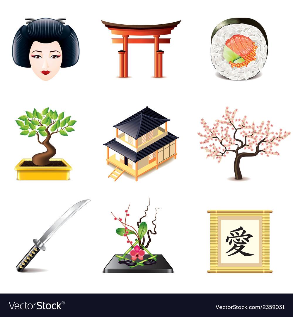 Set japan vector