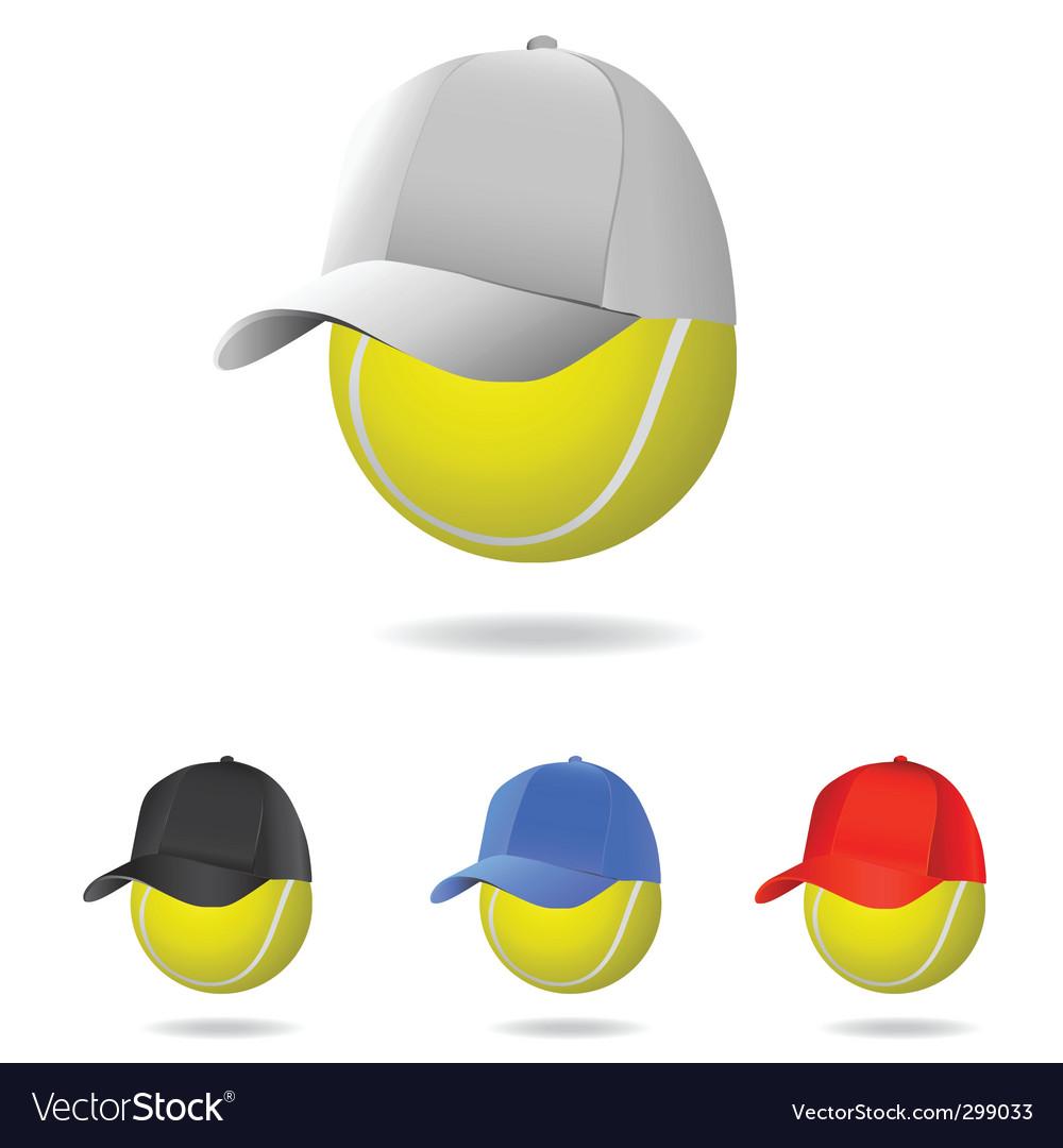 Tennis mascot vector