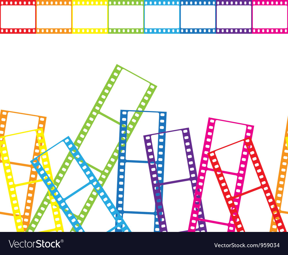Abstract background with a film strip vector