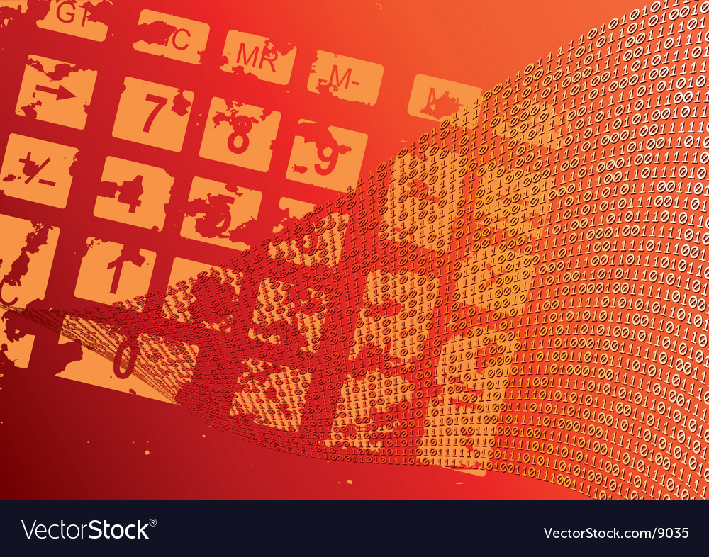 Abstract orange background dial grunge vector