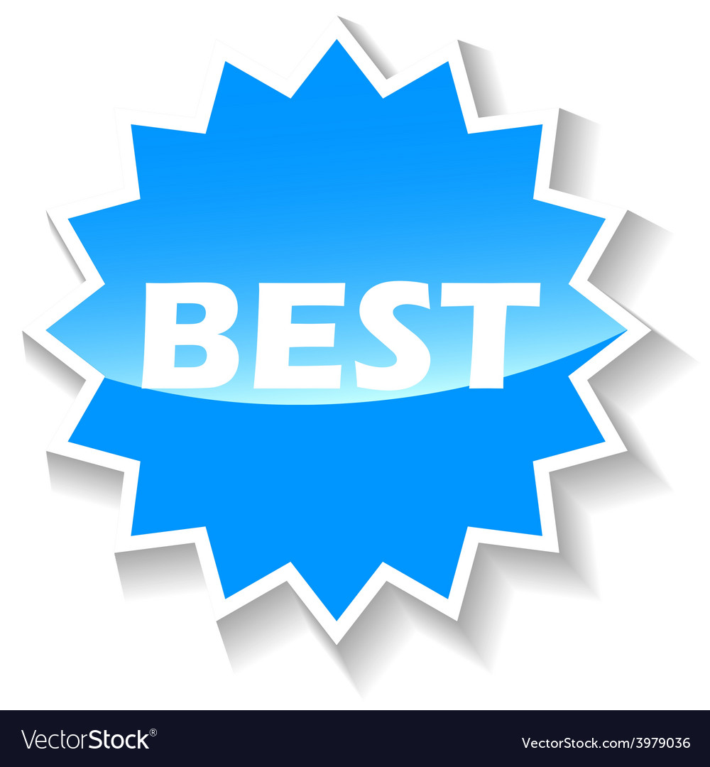 Best blue icon vector