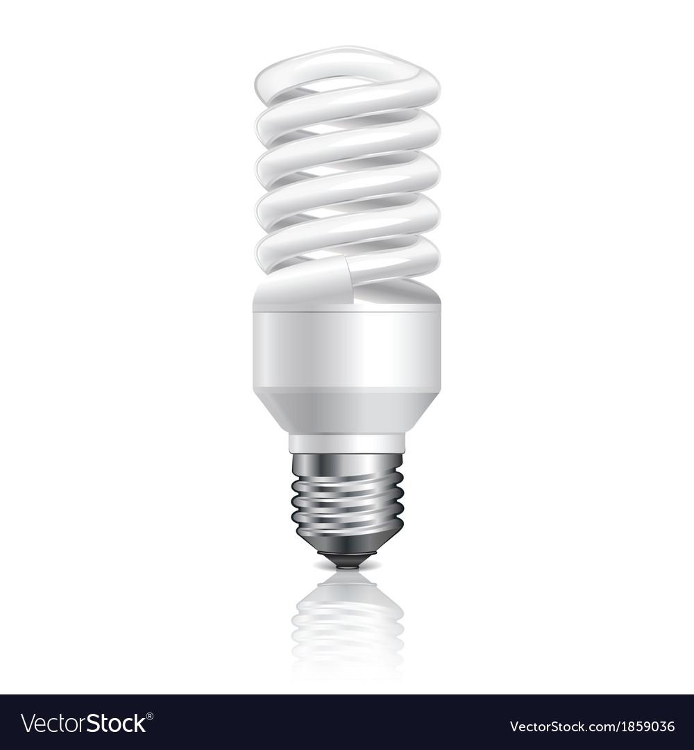 Object energy saving lamp vector