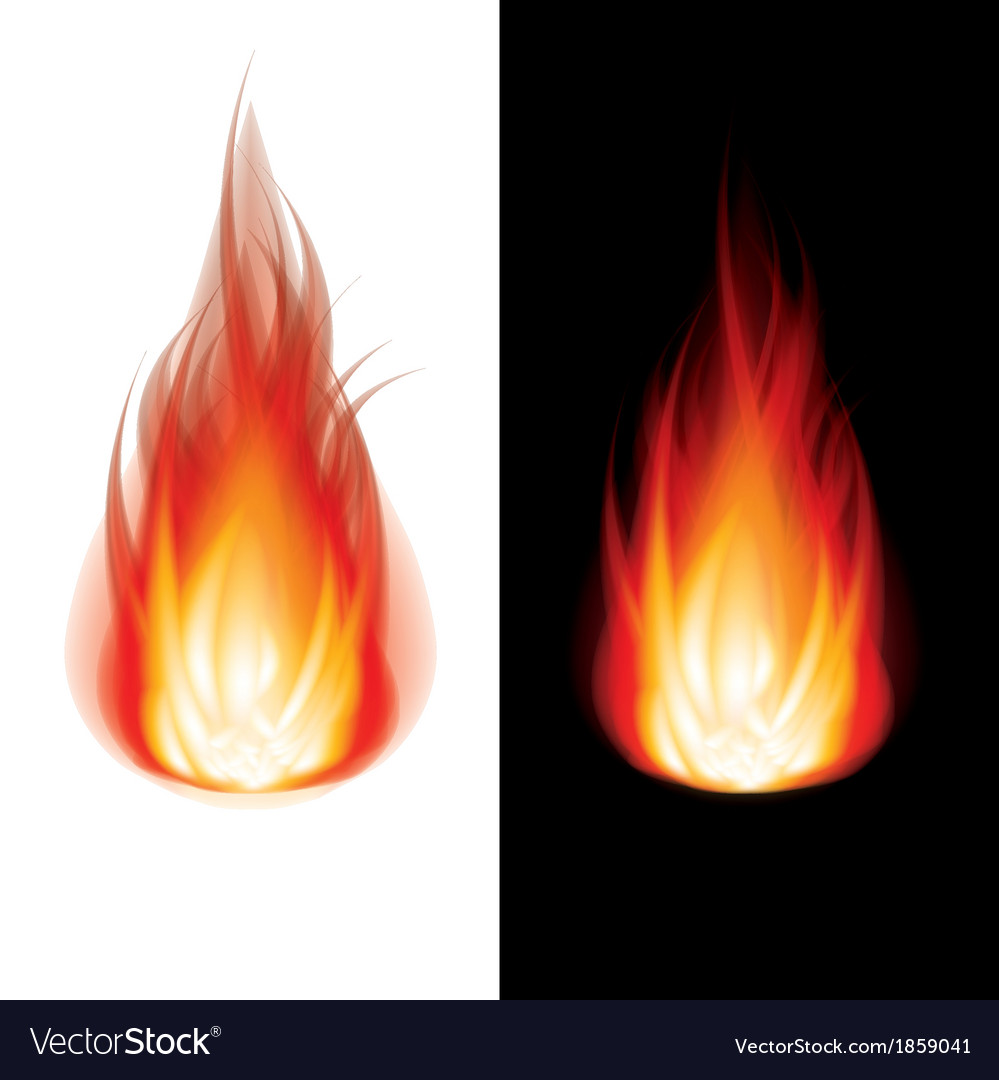 Object fire icon black white vector
