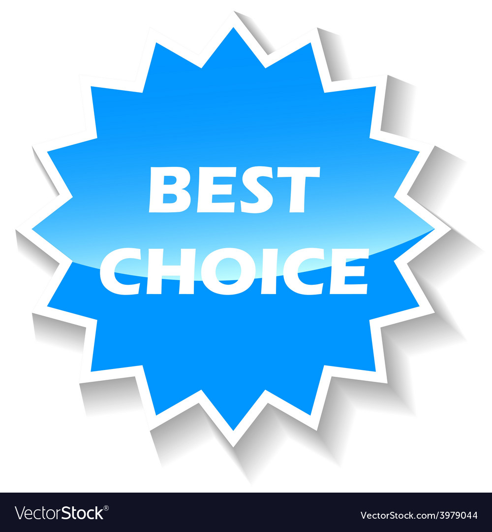 Best choice blue icon vector