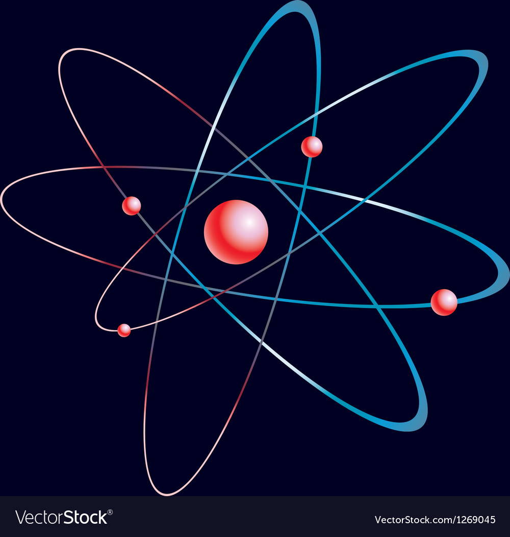 Model of the atom vector