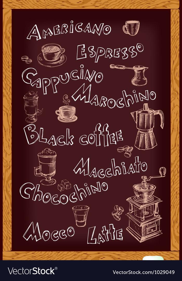 Blackboard for cafe vector