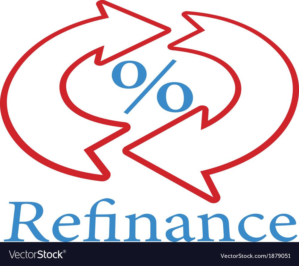 Refinance home mortgage loan icon symbol vector