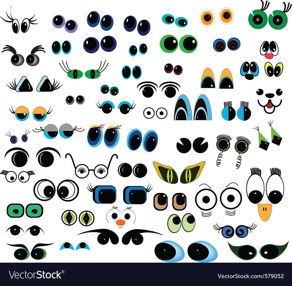 Cartoon eyes vector