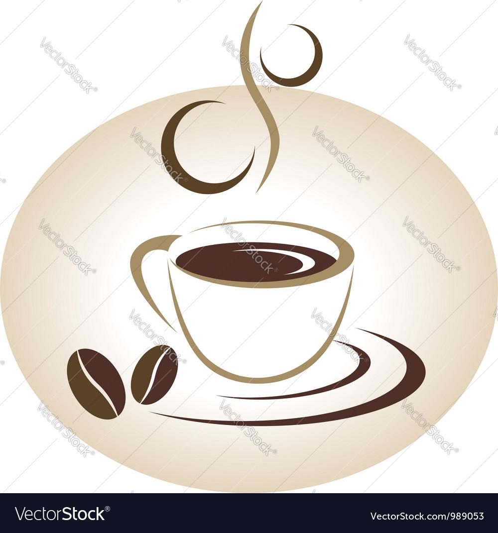 Coffee cup emblem vector