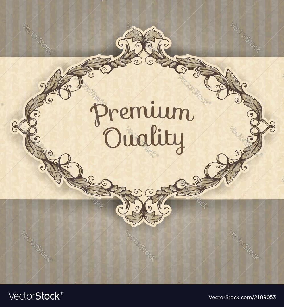 Vintage frame and grunge background vector