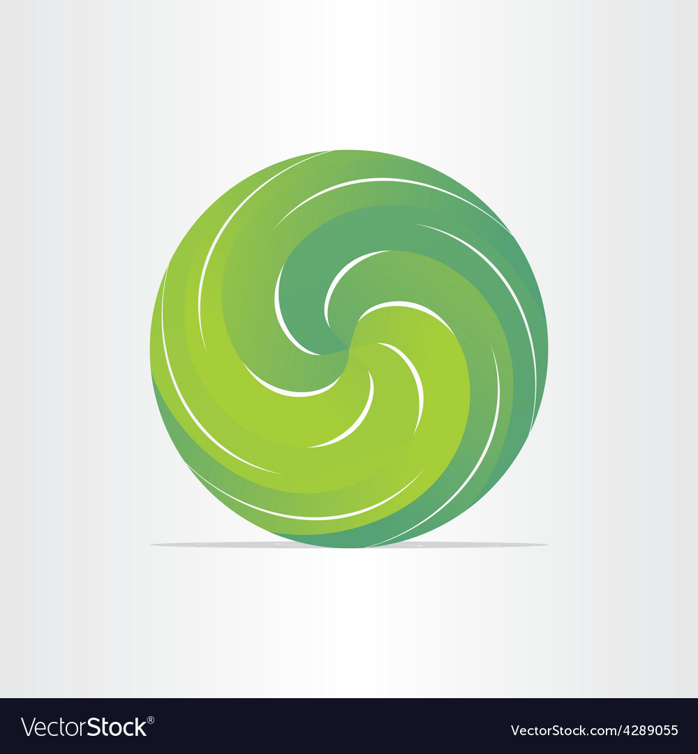 Green eco spring design element vector