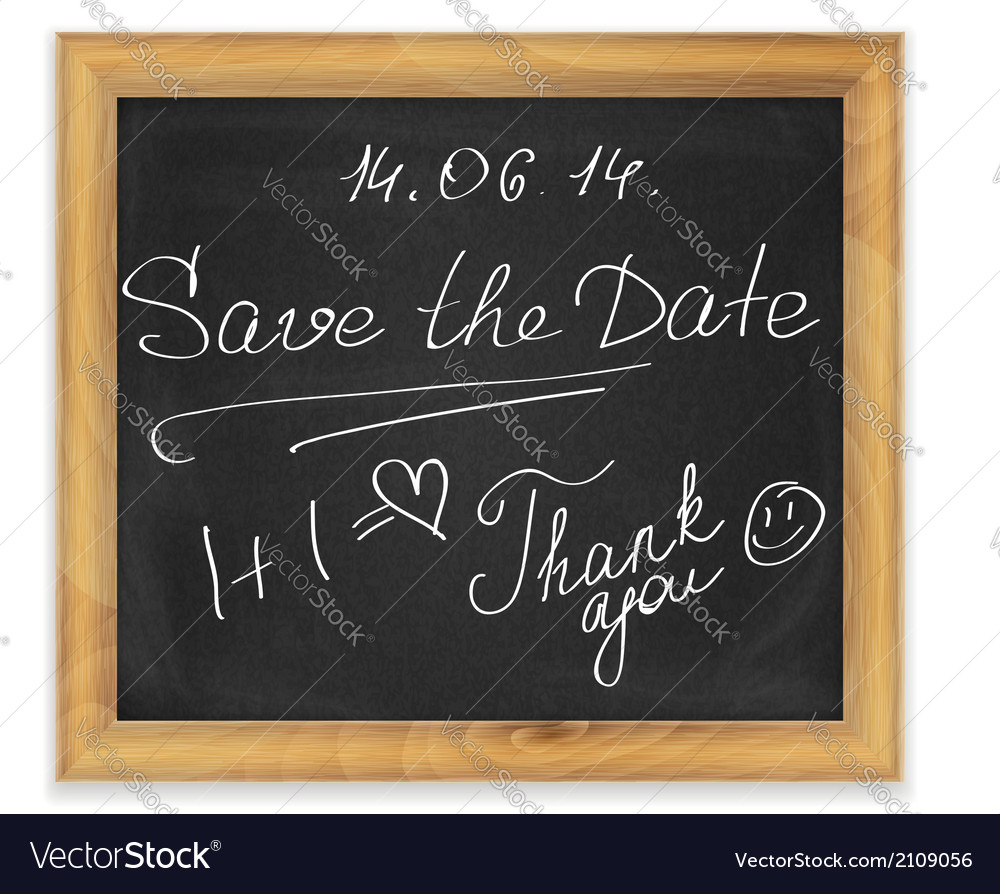Chalk board in frame vector